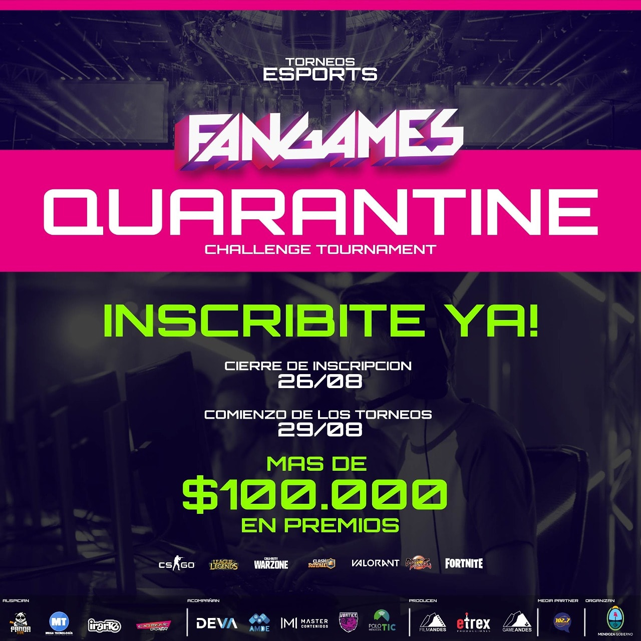 Mendoza impulsa el primer torneo totalmente virtual de deportes electrónicos