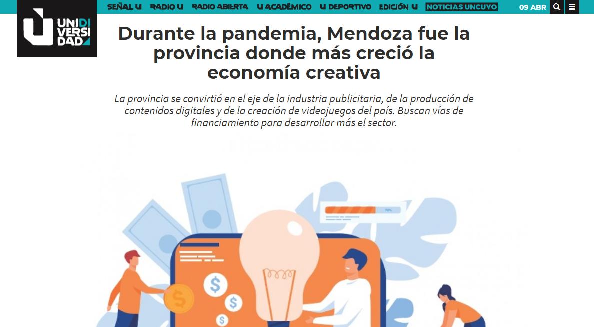 Durante la pandemia, Mendoza fue la provincia donde más creció la economía creativa