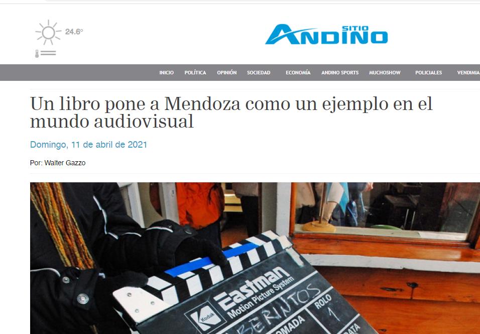 Un libro pone a Mendoza como un ejemplo en el mundo audiovisual
