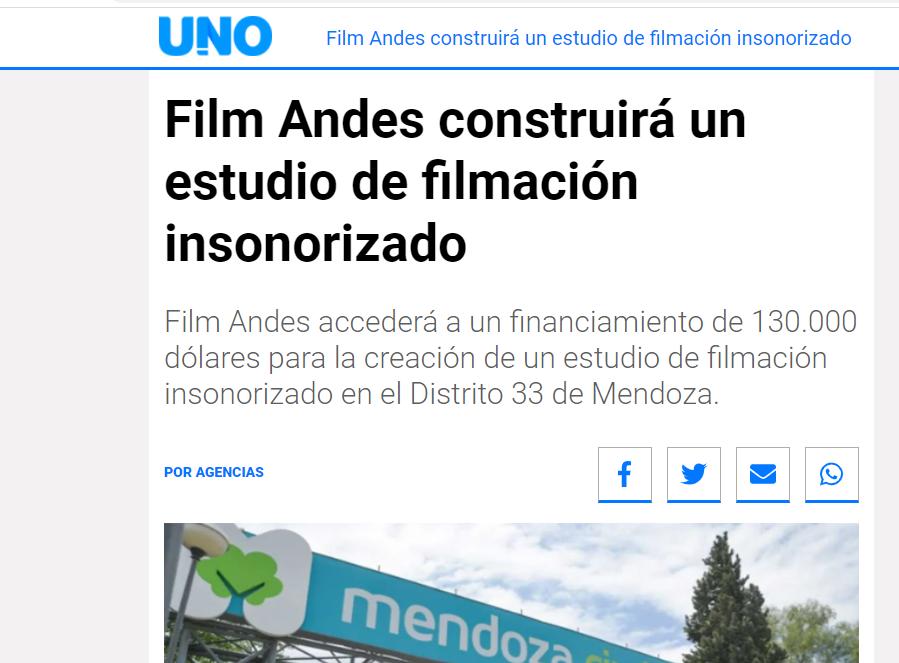 Film Andes construirá un estudio de filmación insonorizado